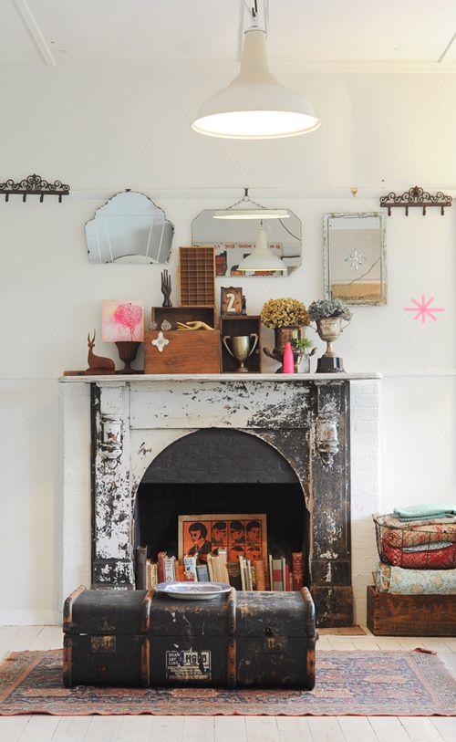 specchio parete vintage