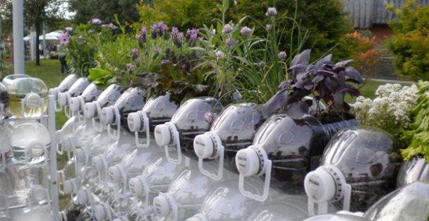 bottiglia orizzontale per orto